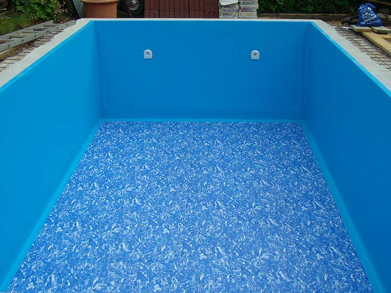 Folie im Schwimmbadbau
