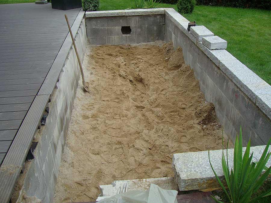 Schwimmbecken gemauert